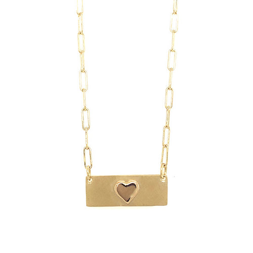 NEW! LORO 14k Gold Heart Necklace