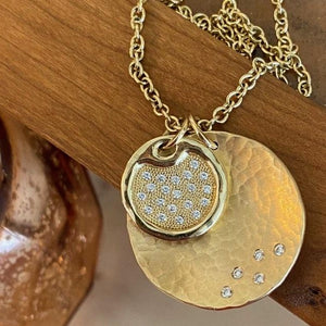 MEGG Large 14k Gold Pendant