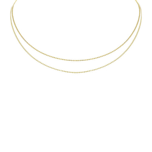 NEW! CHAD 14k Gold 2-Tiered Choker
