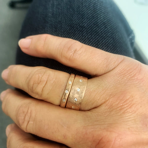 RAYZ 14k Gold Hammered Ring