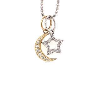 Diamond MOON and STAR Baby Charms