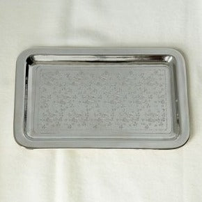 Caspian Small Nickel Plated Brass Tray