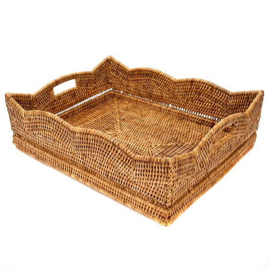 Rattan Scallop Basket (Large)