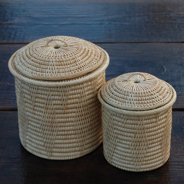 Canister Nesting Set of 2 w/ Lids