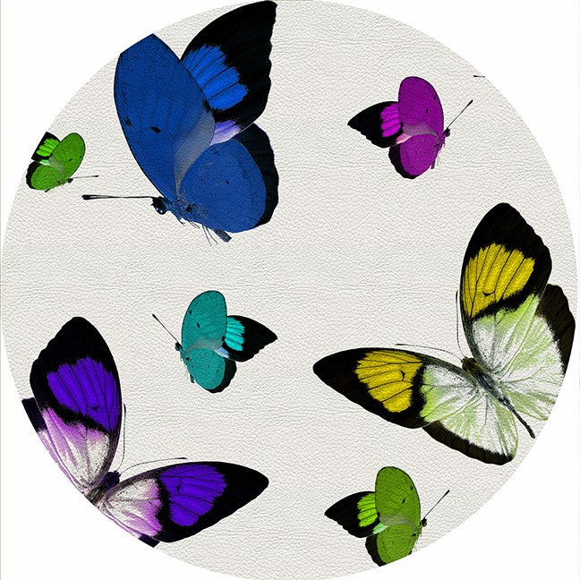 Butterflies Acid Blue Pebble Placemats