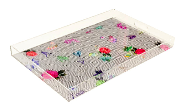 Florals at Their Feet Acrylic Tray