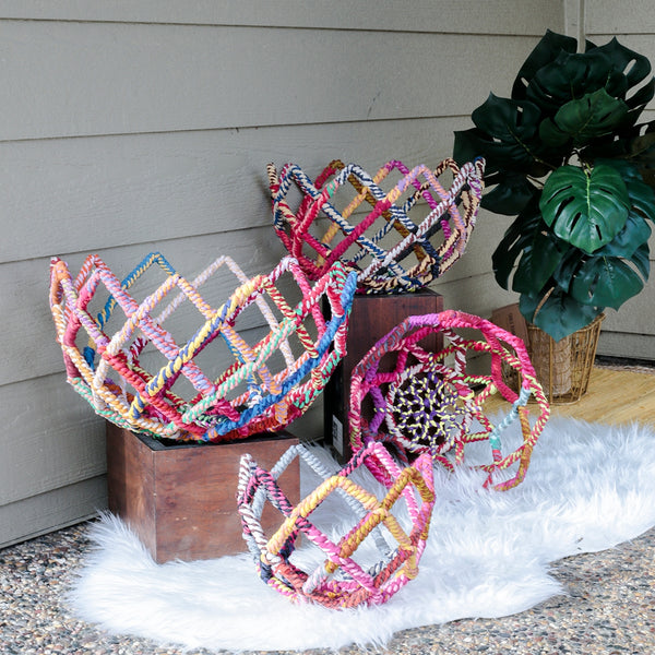 Colored Jute Baskets