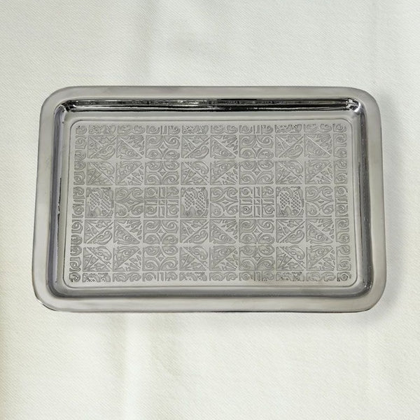 Oceane Large Nickel Plated Brass Tray