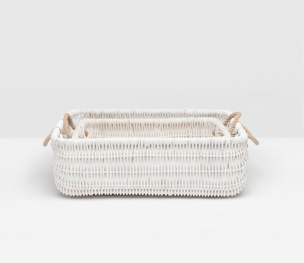 Beru Baskets in White -Set of 2