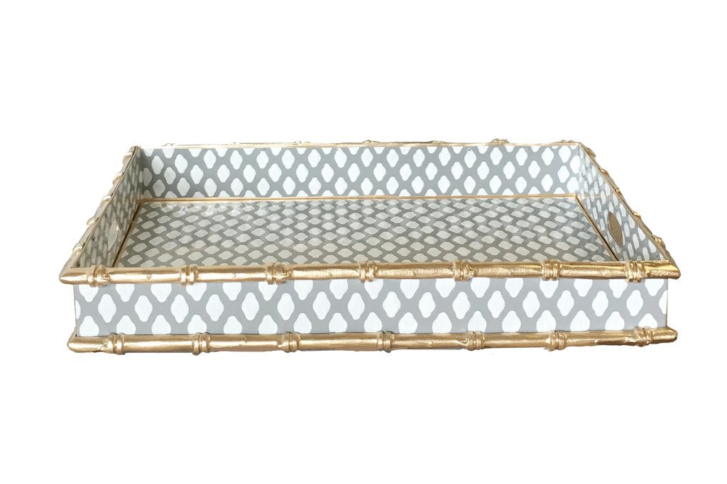 Bamboo Tray in Parsi Grey