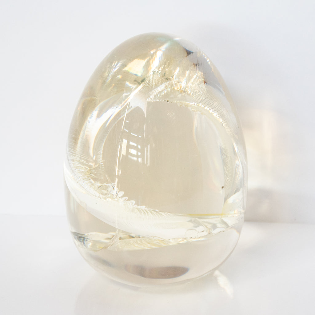 Ameer Clear Crackled Acrylic Object -Large