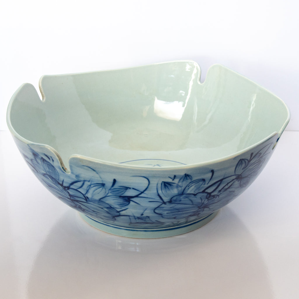 Blue Flowers Large Bowl