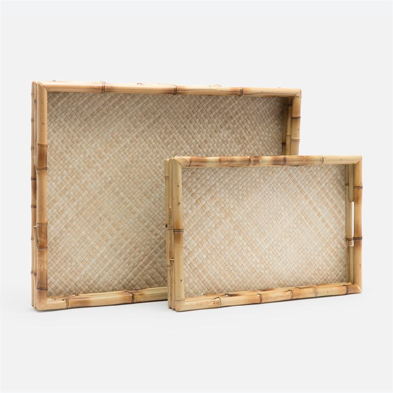 Dulcy Natural Bamboo/Natural Pandan Tray -Small
