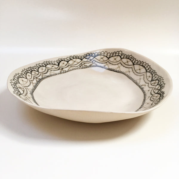 White Lace Fruit Bowl