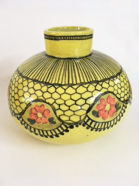 Yellow Oval Pot