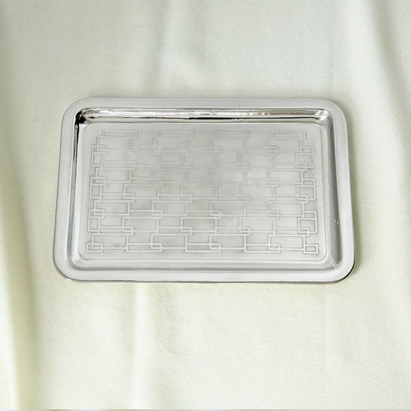 Isla Large Nickel Plated Brass Tray