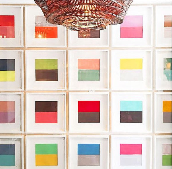 Framed Color Block Squares Artwork