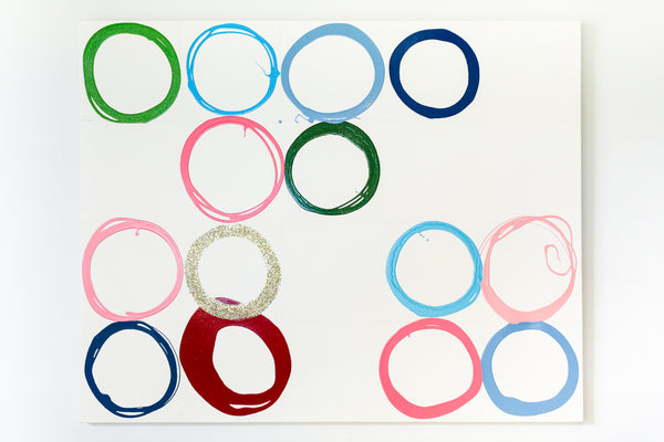 "48"" x 60"" Large Circles Unframed"