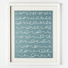 Blue w/ White Squiggles Framed Artwork (20x16)