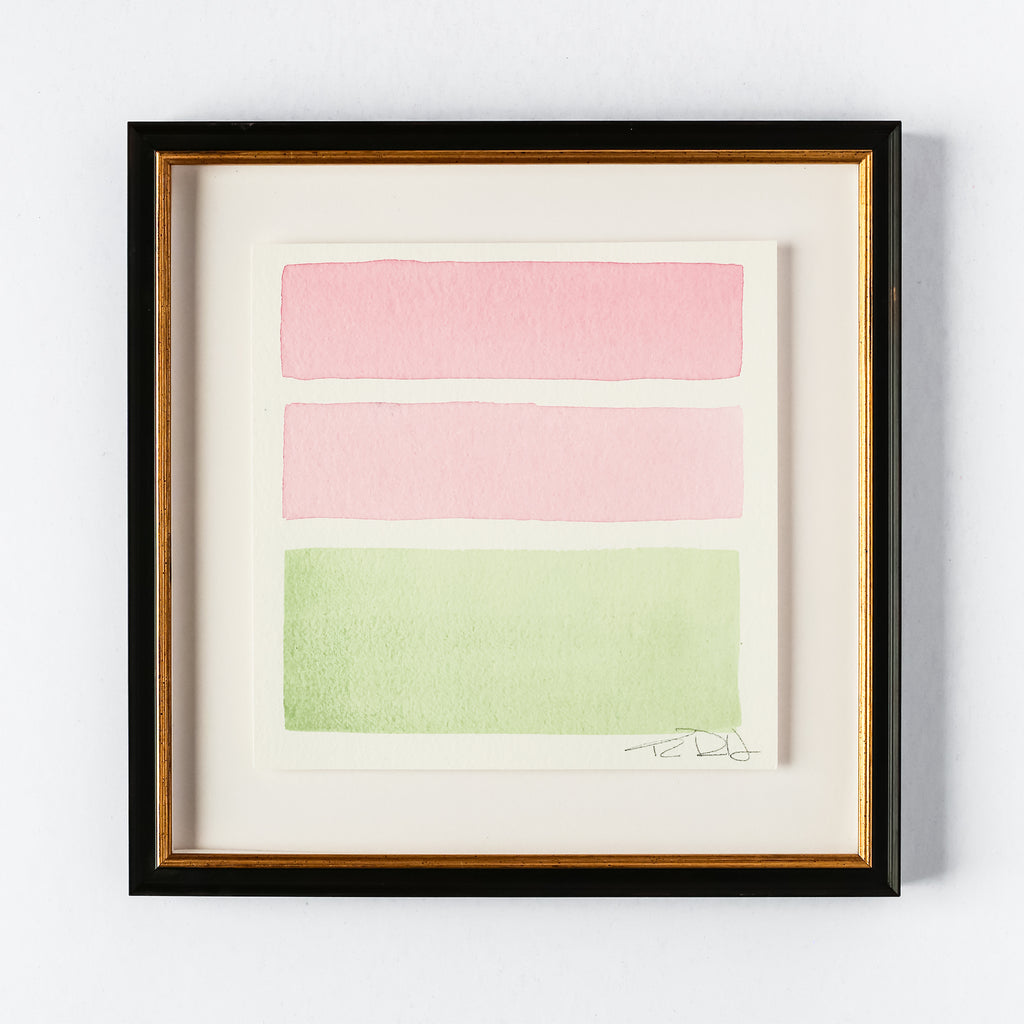 Pink & Green #1 (9x9)