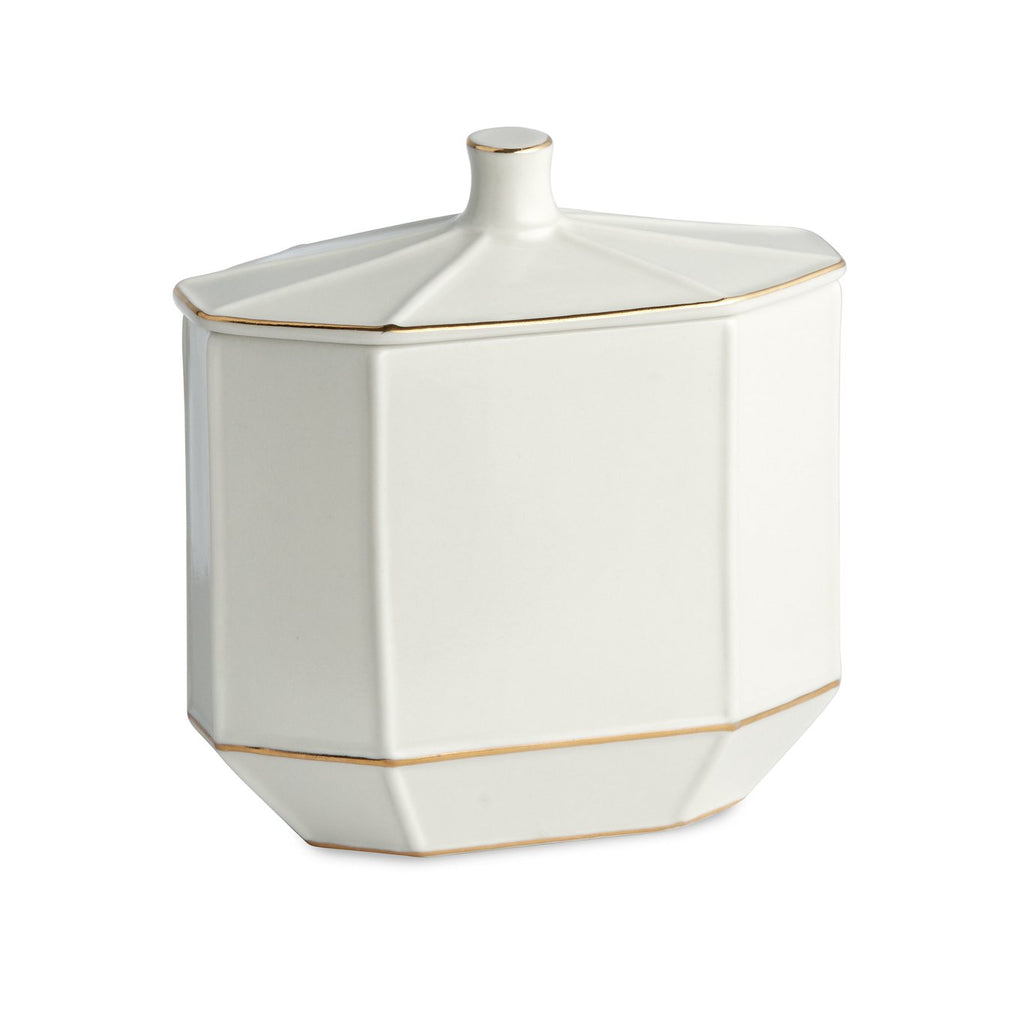 St. Honore White Cotton Jar