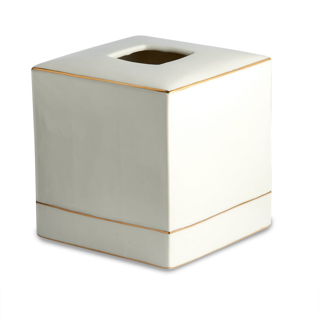 St. Honore White Tissue Holder