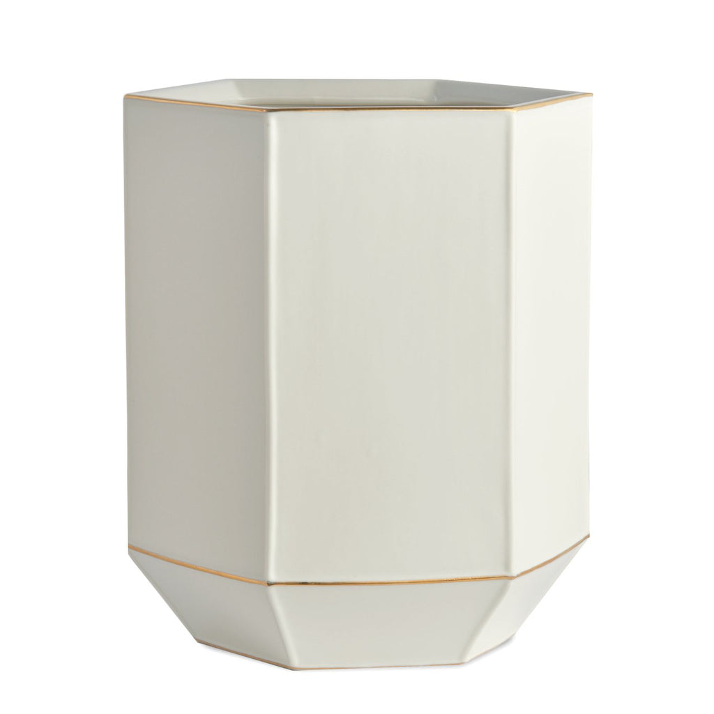 St. Honore White Wastebasket