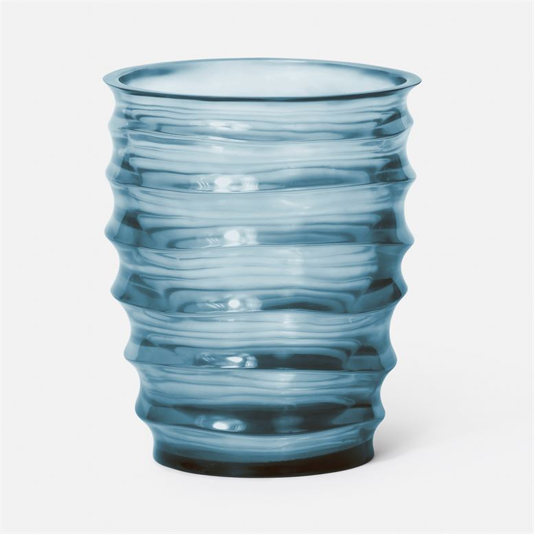 Hetty Vase (Blue Translucent Resin)