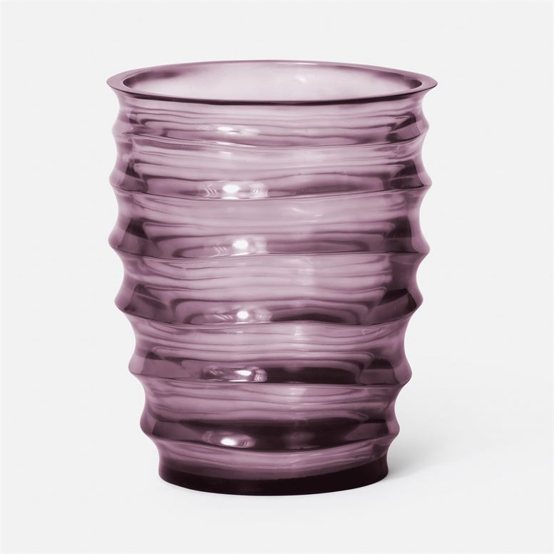 Hetty Vase (Plum Translucent Resin)