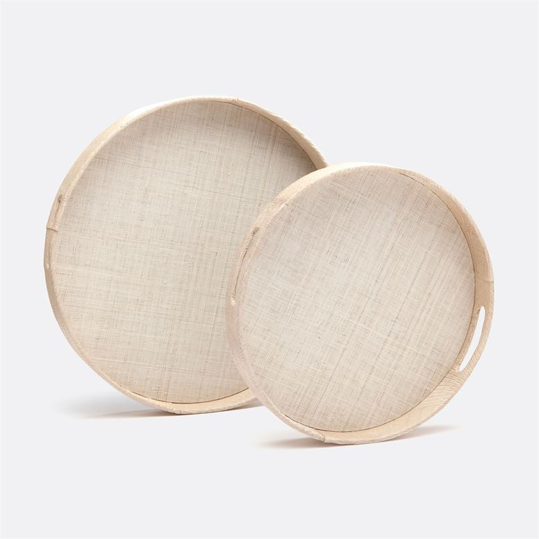 Faye Natural Buntal Circular Tray -Large
