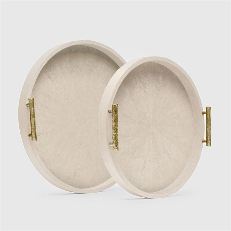 Doris Ivory Shagreen Tray -Small