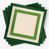 Green Stripe Jute Placemats - Set of 4