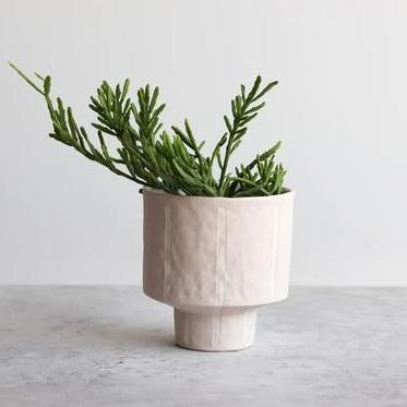 Pinstripe Planter -Summer Sweet