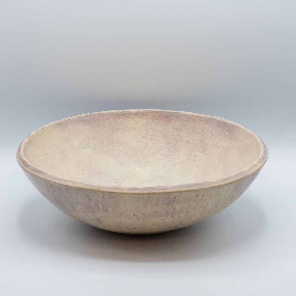 Large Salad Bowl - Bone/Purple
