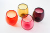 Set of 4 Drink Cups: Transparent Red Palette