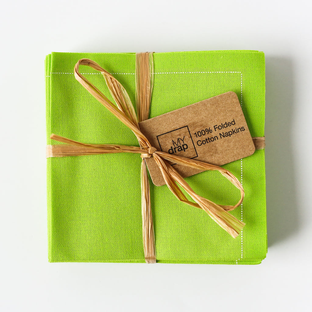 Pistachio Cotton Folded Napkins