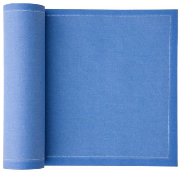 Sea Blue Cotton Cocktail Napkins