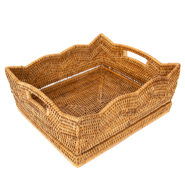 Rattan Scallop Basket