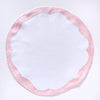 Round Pink Scallop Border Placemats