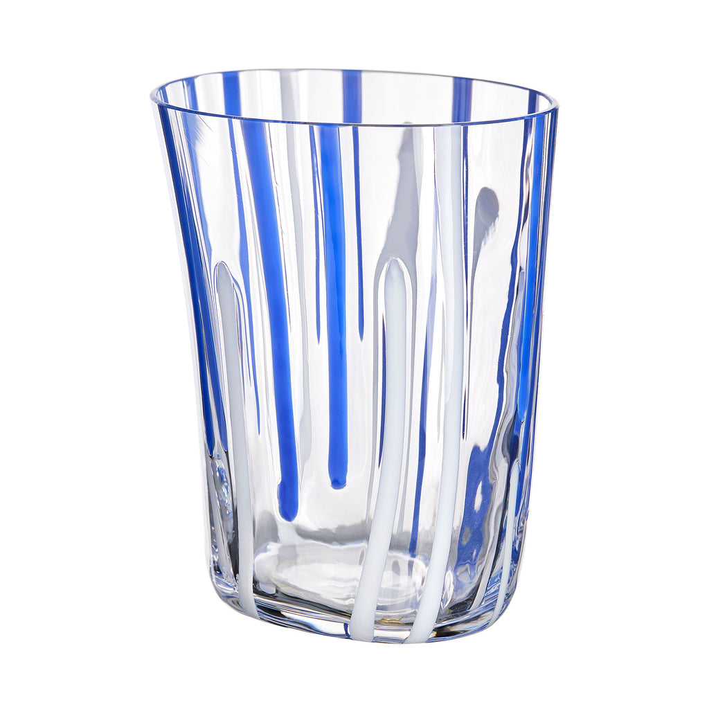Blue Thin Stripe Glass