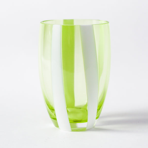 Gessato Tumblers - Apple Green