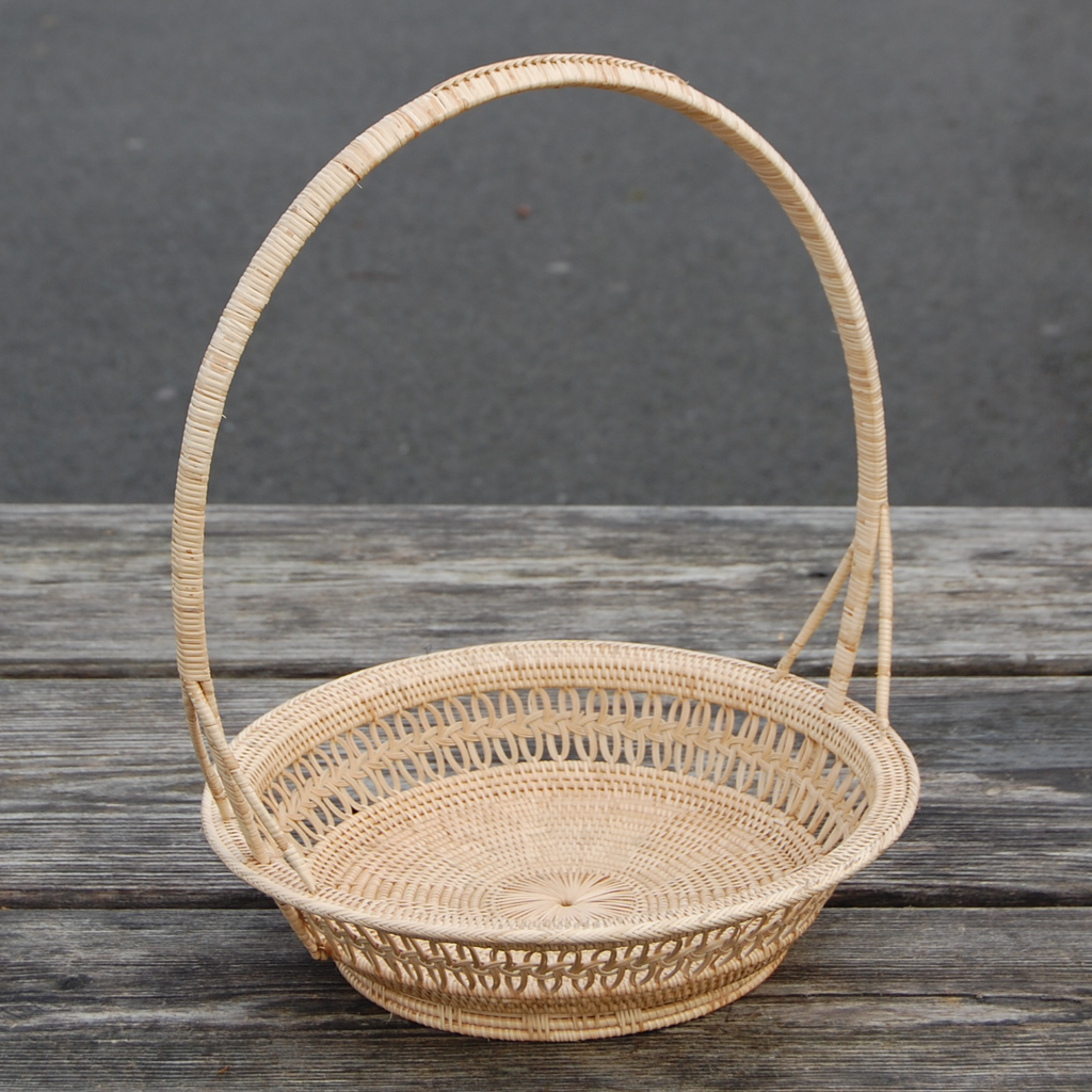 Round Tray Basket w/ Handle