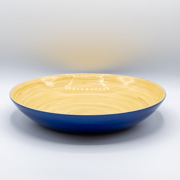 Small Shallow Bamboo Bowl