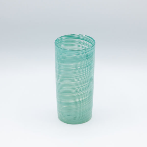 Tall Round Turquoise Glassware