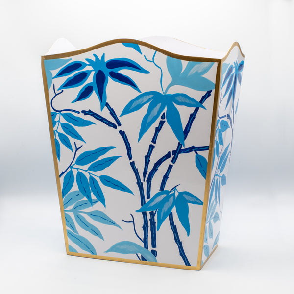 Fontaine Blue Wastebasket