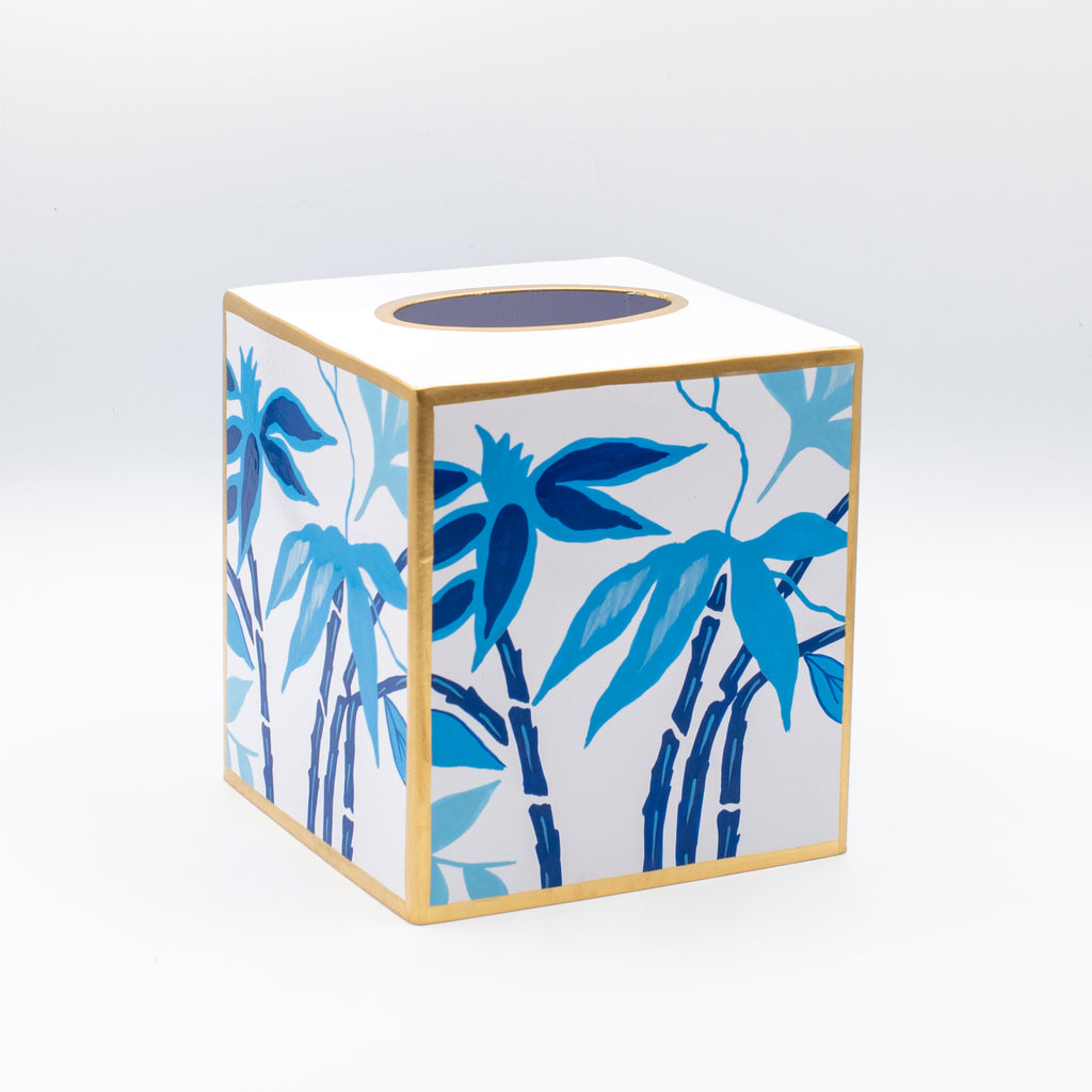 Fontaine Blue Tissue Box