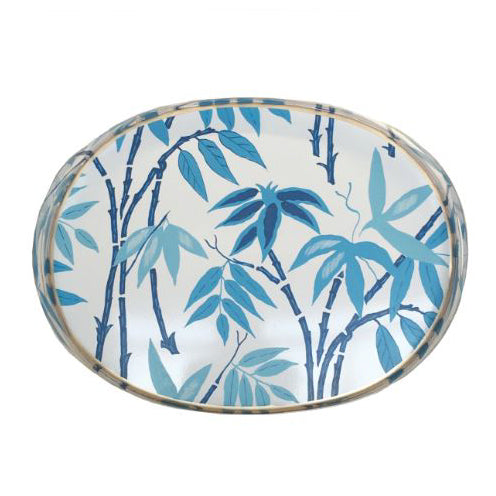 Fontaine Blue Oval Tray