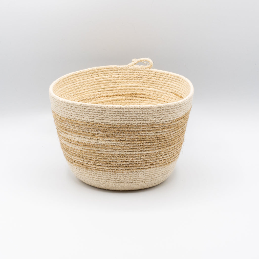 Jute Stripe Small Bucket