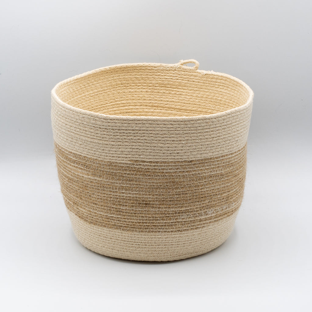 Jute Stripe Medium Bucket