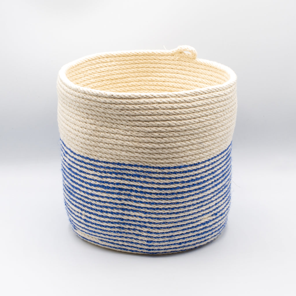 Blue Stripe Chunky Bucket